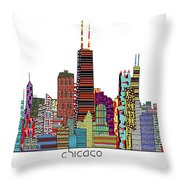Chicago city  Throw Pillow by Bri Buckley