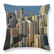Chicago from above - What a view Throw Pillow by Christine Till