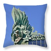 Chicago - Harold Washington Library Throw Pillow by Christine Till