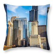 Chicago High Resolution Picture Throw Pillow by Paul Velgos
