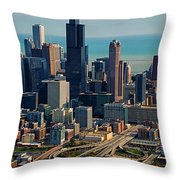 Chicago Highways 05 Throw Pillow by Thomas Woolworth