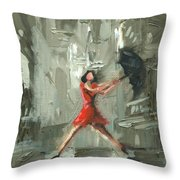 Chicago One Throw Pillow by Luis  Navarro