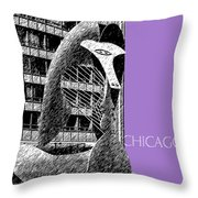 Chicago Pablo Picasso - Violet Throw Pillow by DB Artist
