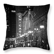 Chicago Theatre - Grandeur And Elegance Throw Pillow by Christine Till