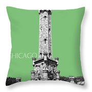 Chicago Water Tower - Apple Throw Pillow by DB Artist