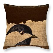 Chickadee Throw Pillow by Carol Leigh