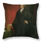Chief Justice Marshall Throw Pillow by Chester Harding
