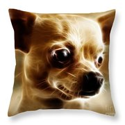 Chihuahua Dog - Electric Throw Pillow by Wingsdomain Art and Photography