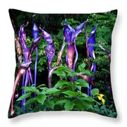 Chihuly Woods Throw Pillow by Diana Powell