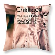 Childhood Throw Pillow by Bonnie Bruno