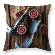 Childhood Skates Throw Pillow by Garry Gay
