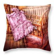 Children - It's A Girl Throw Pillow by Mike Savad