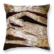 Chin Up Throw Pillow by Chris Sotiriadis