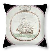 China - Dutch Ship 1756 Throw Pillow by Granger