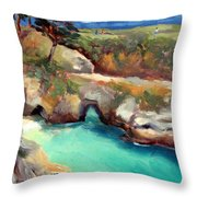 China Cove Point Lobos Throw Pillow by Karin  Leonard