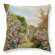 China Roses Throw Pillow by Alfred Parsons
