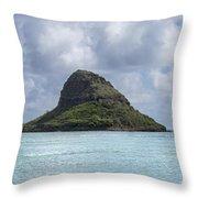 Chinamans Hat Panorama - Oahu Hawaii Throw Pillow by Brian Harig