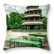 Chinesischer Turm I Throw Pillow by Hannes Cmarits