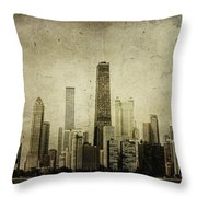 Chitown Throw Pillow by Andrew Paranavitana