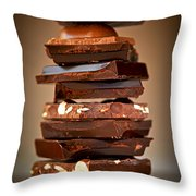 Chocolate Throw Pillow by Elena Elisseeva