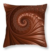 Chocolate  Throw Pillow by Heidi Smith