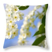 Choke Cherry In Bloom Throw Pillow by Gary Whitton