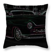 Chopped Merc Glow Throw Pillow by Steve McKinzie
