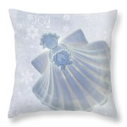 Christmas Angel Throw Pillow by Rebecca Cozart