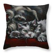 Christmas Companions Throw Pillow by Cynthia House