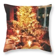 Christmas Eve Throw Pillow by Mo T