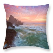 Christmas Eve Sunset Throw Pillow by Darren  White