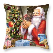 Christmas Eve Throw Pillow by Zorina Baldescu