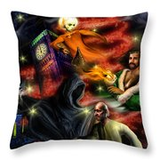 Christmas Greeting Card II Throw Pillow by Alessandro Della Pietra