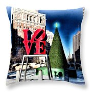 Christmas in Philadelphia Throw Pillow by Bill Cannon