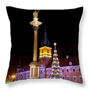 Christmas in Warsaw Throw Pillow by Artur Bogacki