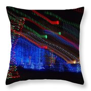 Christmas Lights Throw Pillow by Dan Sproul