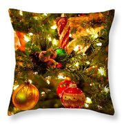 Christmas Tree Background Throw Pillow by Elena Elisseeva