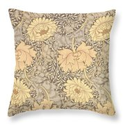 Chrysanthemum Throw Pillow by William Morris
