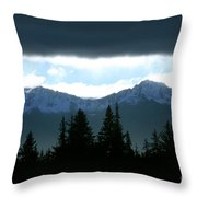 Chugach Mountains Throw Pillow by Crystal Magee