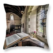 Church Chronicles Throw Pillow by Adrian Evans