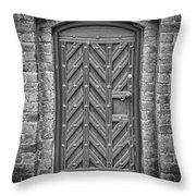 Church Door 02 Throw Pillow by Antony McAulay