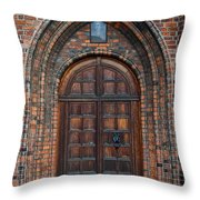 Church Door Throw Pillow by Antony McAulay