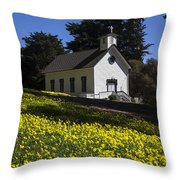 Church In The Clover Throw Pillow by Garry Gay