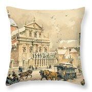 Church Of St Peter And Paul In Krakow Throw Pillow by Stanislawa Kossaka