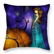 Cinderella Throw Pillow by Mandie Manzano