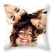 Circle Of Best Friends Throw Pillow by Michal Bednarek