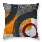 Circles 3 Throw Pillow by Linda Woods