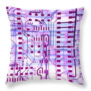 Circuit Trace II Throw Pillow by Jerry McElroy
