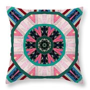 Circular Patchwork Art Throw Pillow by Barbara Griffin