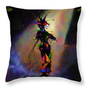 Cat O Nine Tails Throw Pillow by Kd Neeley